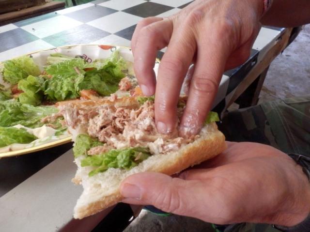 Thunfischsandwich zum selber basteln
