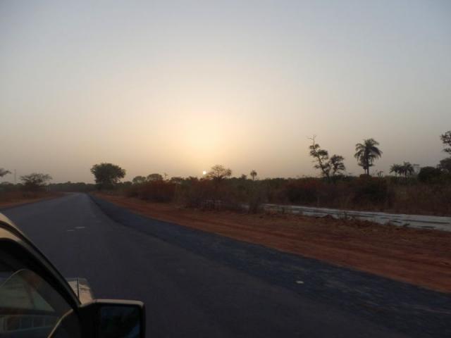 Sonnenaufgang in Gambia