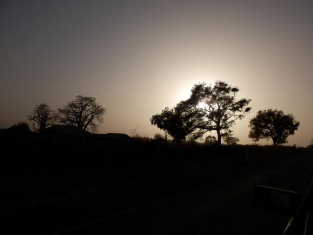 Sonnenuntergang in Gambia
