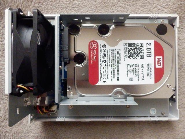 Synology NAS mit einer Festplatte