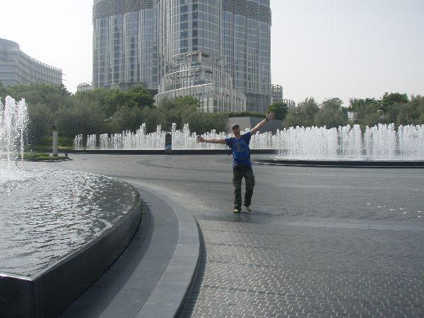 Bibo am Springbrunnen
