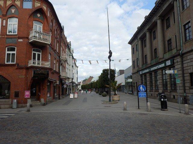 Leere Straßen in Trelleborg