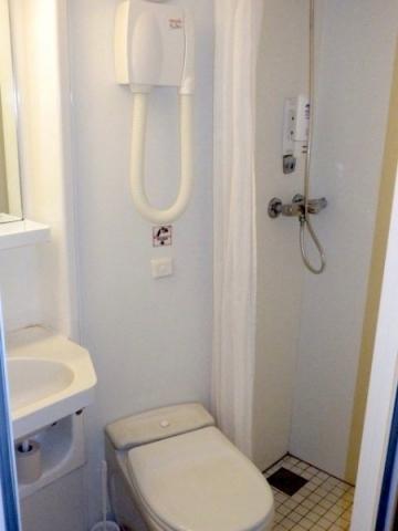 Dusche in der Kabine von TT-Line