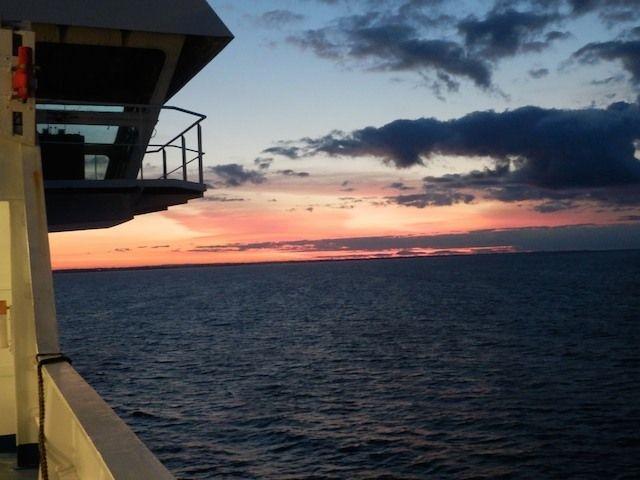 Sonnenaufgang kurz vor Trelleborg