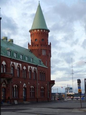 Hafengebäude in Trelleborg
