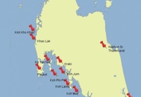 Unsere Vorplanung für das Inselhopping in der Andamanensee / Thailand 2013 1
