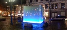 Ein Klo-Häuschen in Oslo