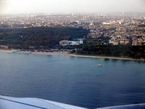 Anflug Istanbul