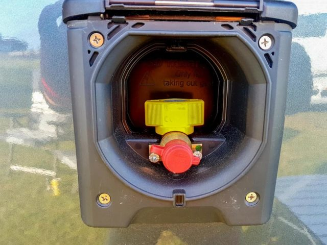 Außensteckdosen Gas