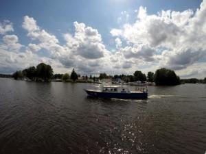 Polizeiboot auf dem Krimnicksee