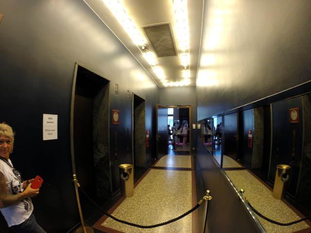 Die Aufzüge im Kollhoff Tower
