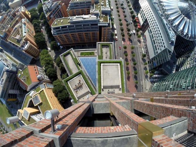 Aussichtsplattform Kolhoff Tower mit Blick direkt nach unten