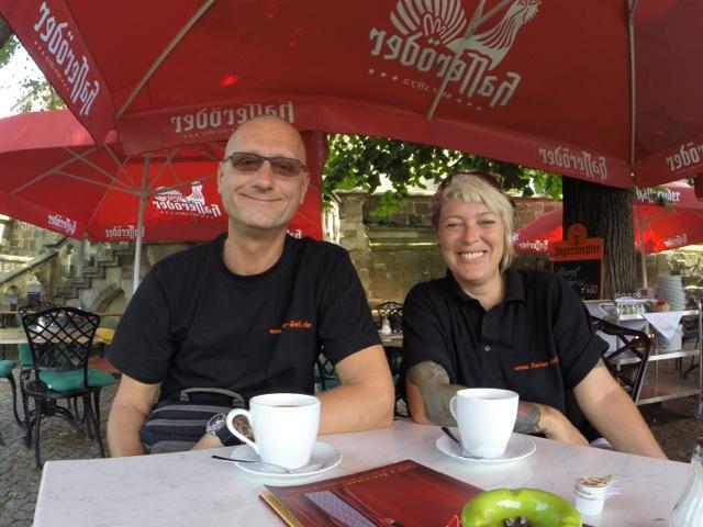 lecker Kaffee auf den Schlossterrassen Wernigerode