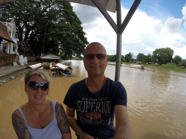 Bibo & Tanja am Ping River in Chiang Mai