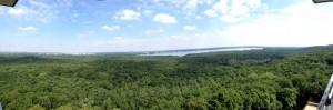 Ausblick vom Müggelturm nach Norden Panoramabild klein