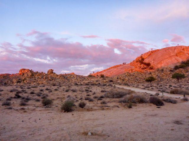 Klein-Aus-Vista-Sonnenuntergang