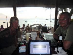 bloggen auf Koh Tao mit schönem Ausblick