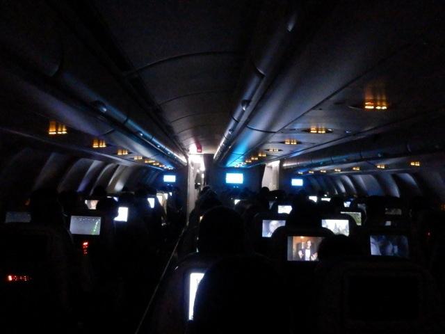 Nachtimpressionen im Flieger