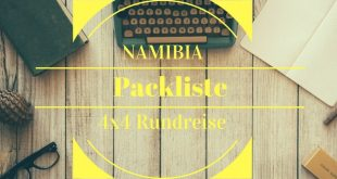 Namibia-packliste