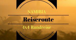 Namibia-reiseroute