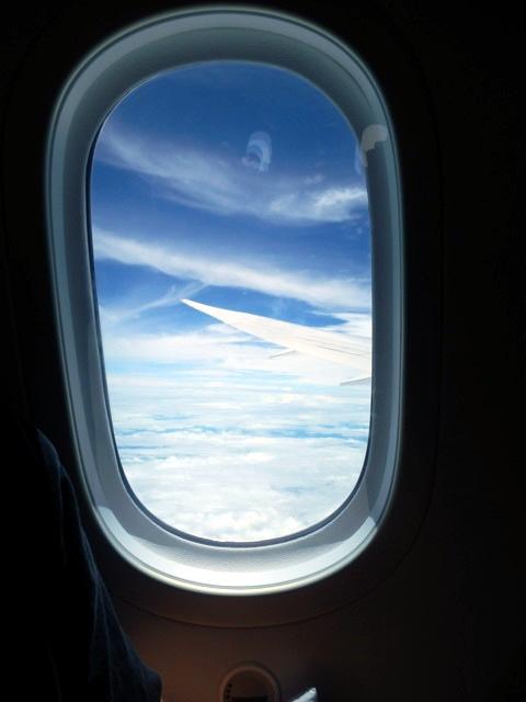 Fenster in der Boing 787-8 Dreamliner