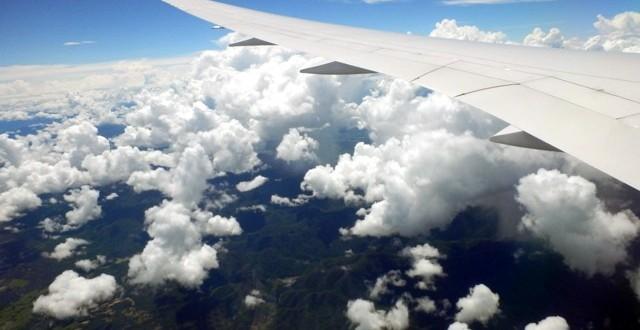 über den Wolken zwischen Bangkok und Chiang Mai