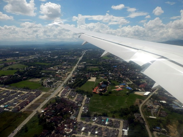Landeanflug Chiang Mai