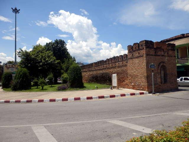 alte Stadtmauer in Chiang Mai