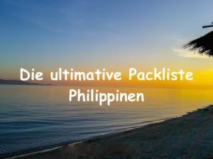 Ultimative Packliste Philippinen