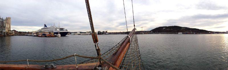 Panoramabild-Bootsfahrt