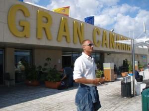 Raucherterrasse Flughafen Gran Canaria