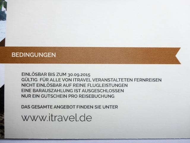 Reisegutschein-Bedingungen
