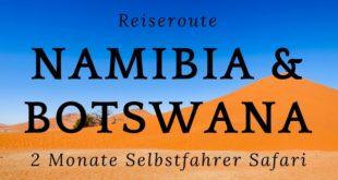 Reiseroute-Namibia-Botswana