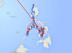 Reiseroute-Philippinen