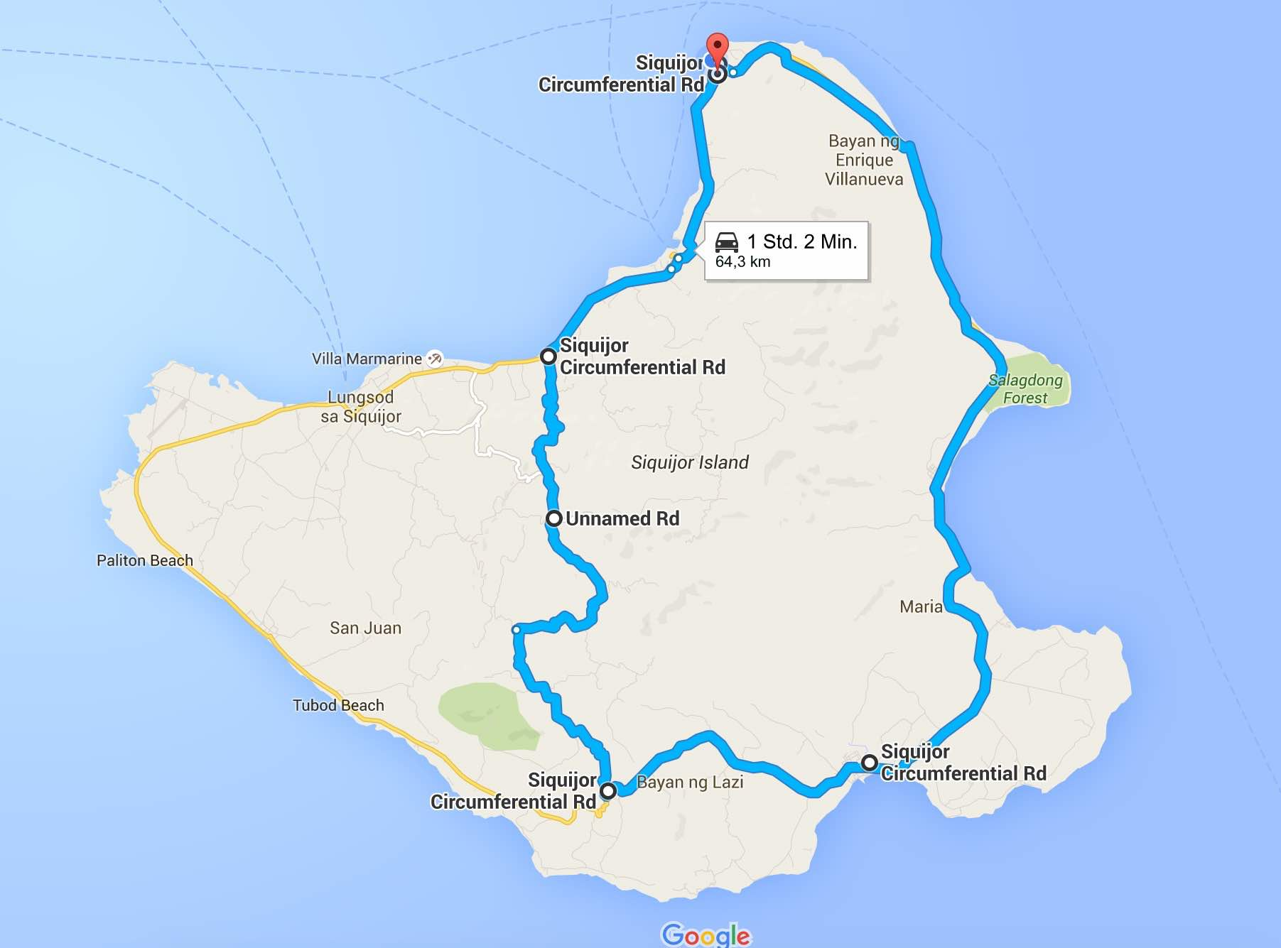 Route Siquijor