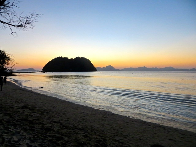 Sonnenuntergang am Las Cabanas Beach