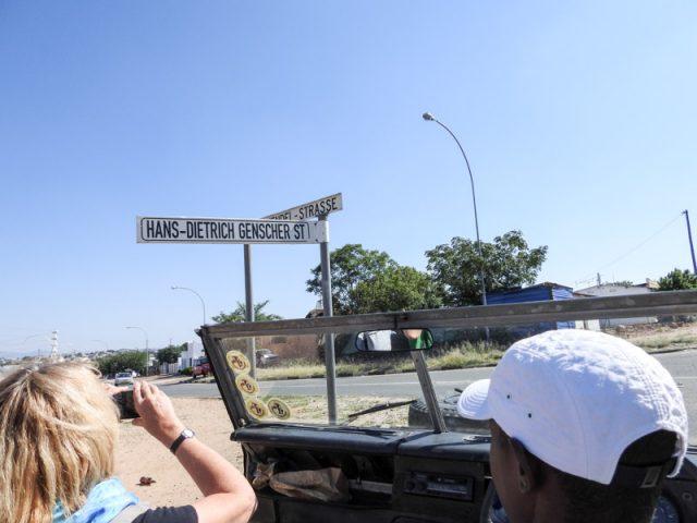 Strassenschild-Windhoek