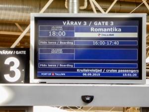 Tallink-Silja-Anzeigentafel