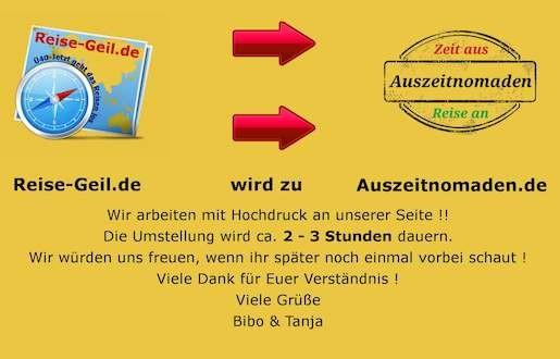 Aus Reise-Geil.de wird Auszeitnomaden ! 1