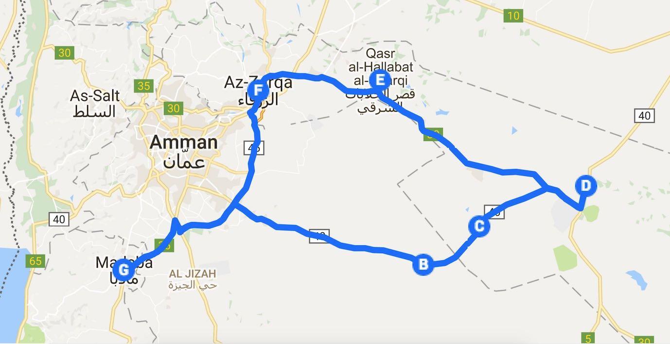Jordanien-wuestenschloesser-route