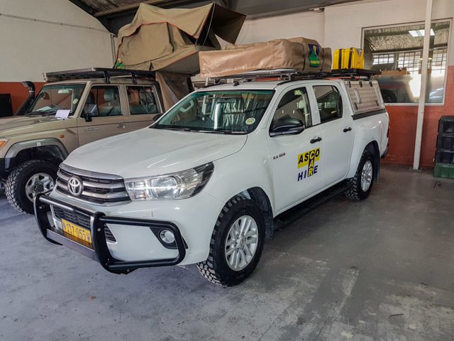 Unser Toyota Hilux von Aco Car Hire