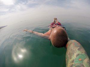 Bibo baden im Toten Meer