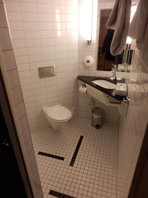 Das Bad im Hotel Park Inn Oslo