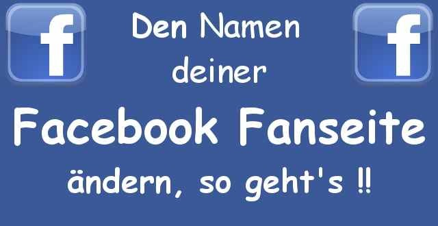 Facebook Seitennamen ändern - Ab 200 Likes kannst du Sie auf Antrag umbenennen 1